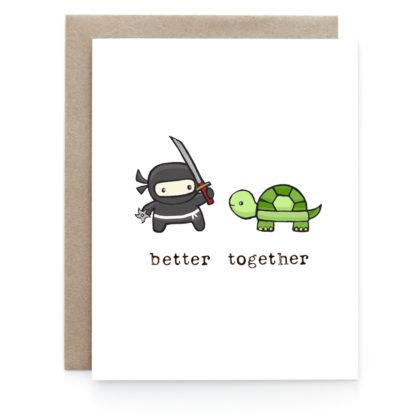 Art + Soul Ninja + Turtle Love Greeting Card