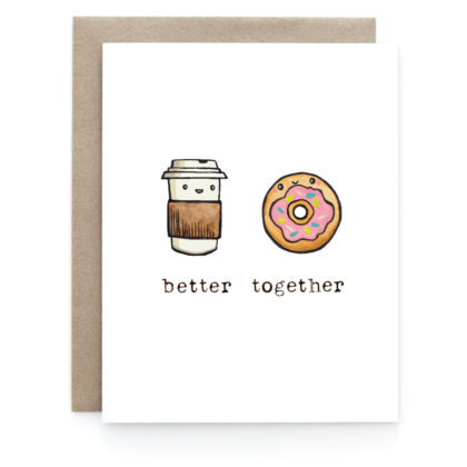 Art + Soul Coffee + Donut Love Greeting Card