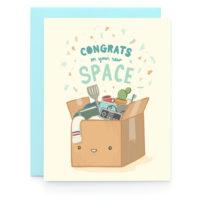 Art + Soul Moving Box Congrats Greeting Card