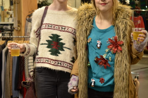 Ugly Christmas Sweater Party guests