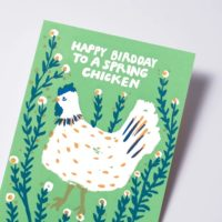 Egg Press Spring Chicken Bday Greeting Card