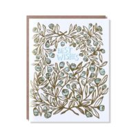 Egg Press Rose Bush Best Wishes Greeting Card