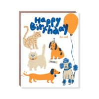 Egg Press Happy Birthday Fur Real Greeting Card
