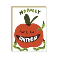 Egg Press Apple Birthday Greeting Card