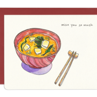 miso you so much encouragement greeting card