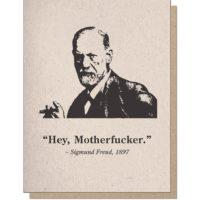 Guttersnipe Press Freud Motherf*cker Greeting Card