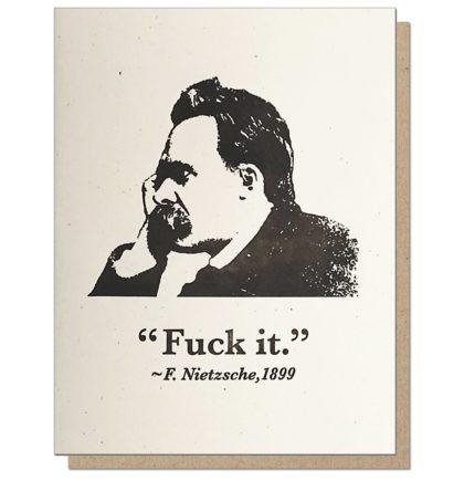 Guttersnipe Press Nietzsche F*ck It Greeting Card