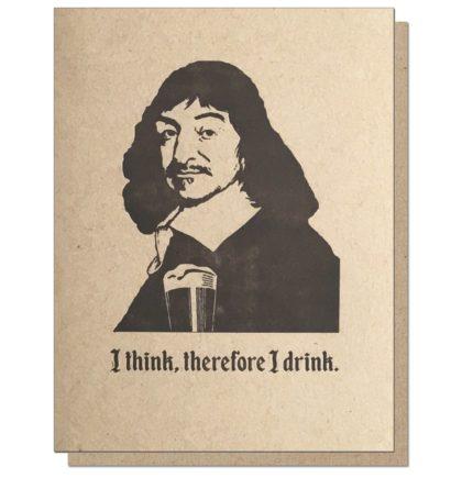 Guttersnipe Press Descartes Drink Greeting Card