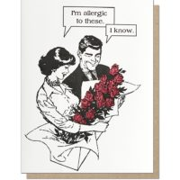 Guttersnipe Press Allergic To Roses Love Greeting Card