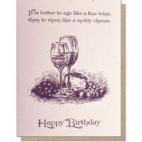 Guttersnipe Press Fine Wine Birthday Greeting Card