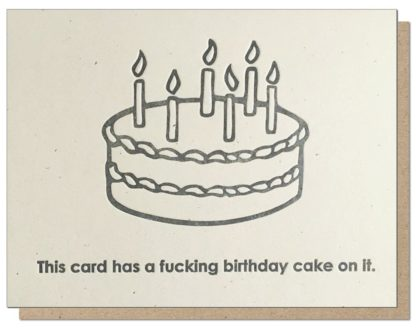 Guttersnipe Press Cake On It Greeting Card