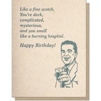 Guttersnipe Press Scotch Birthday Greeting Card