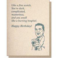 Guttersnipe Press Scotch Birthday Greeting Card