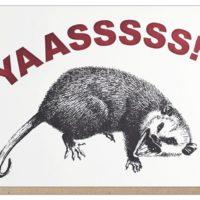 Guttersnipe Press Yas Possum Greeting Card