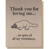 Guttersnipe Press Platypus Love Greeting Card
