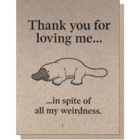 Guttersnipe Press Platypus Love Greeting Card
