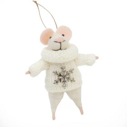 Indaba Petunia Felt Mouse Ornament