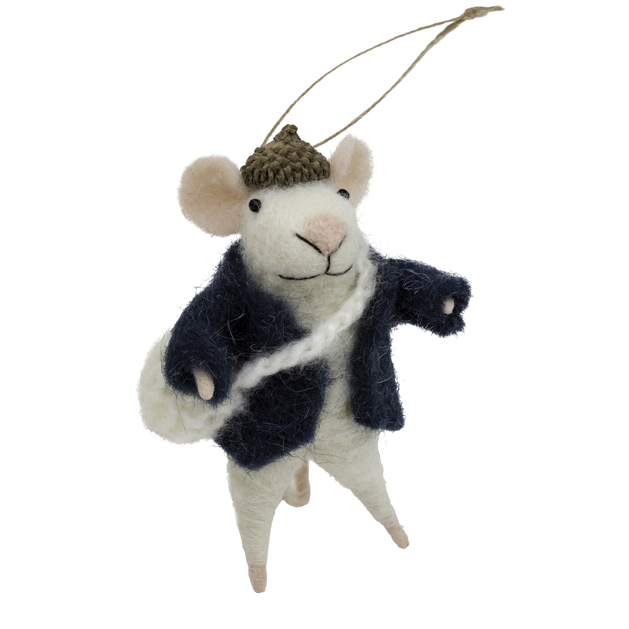Indaba Messenger Mike Felt Mouse Ornament