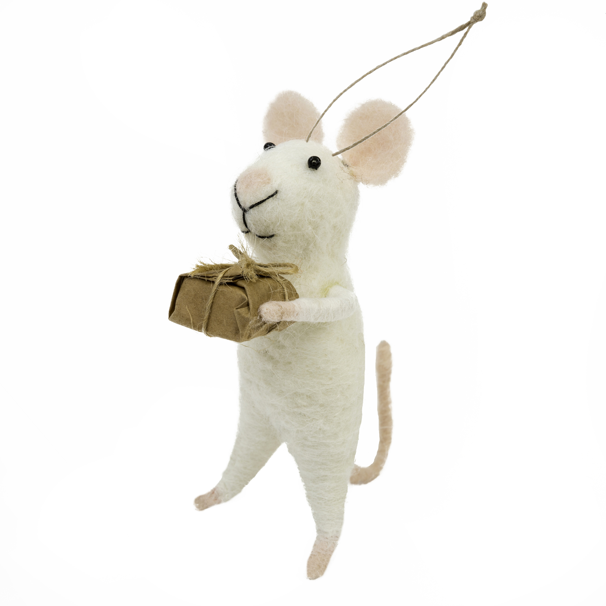 Indaba Generous George Felt Mouse Ornament