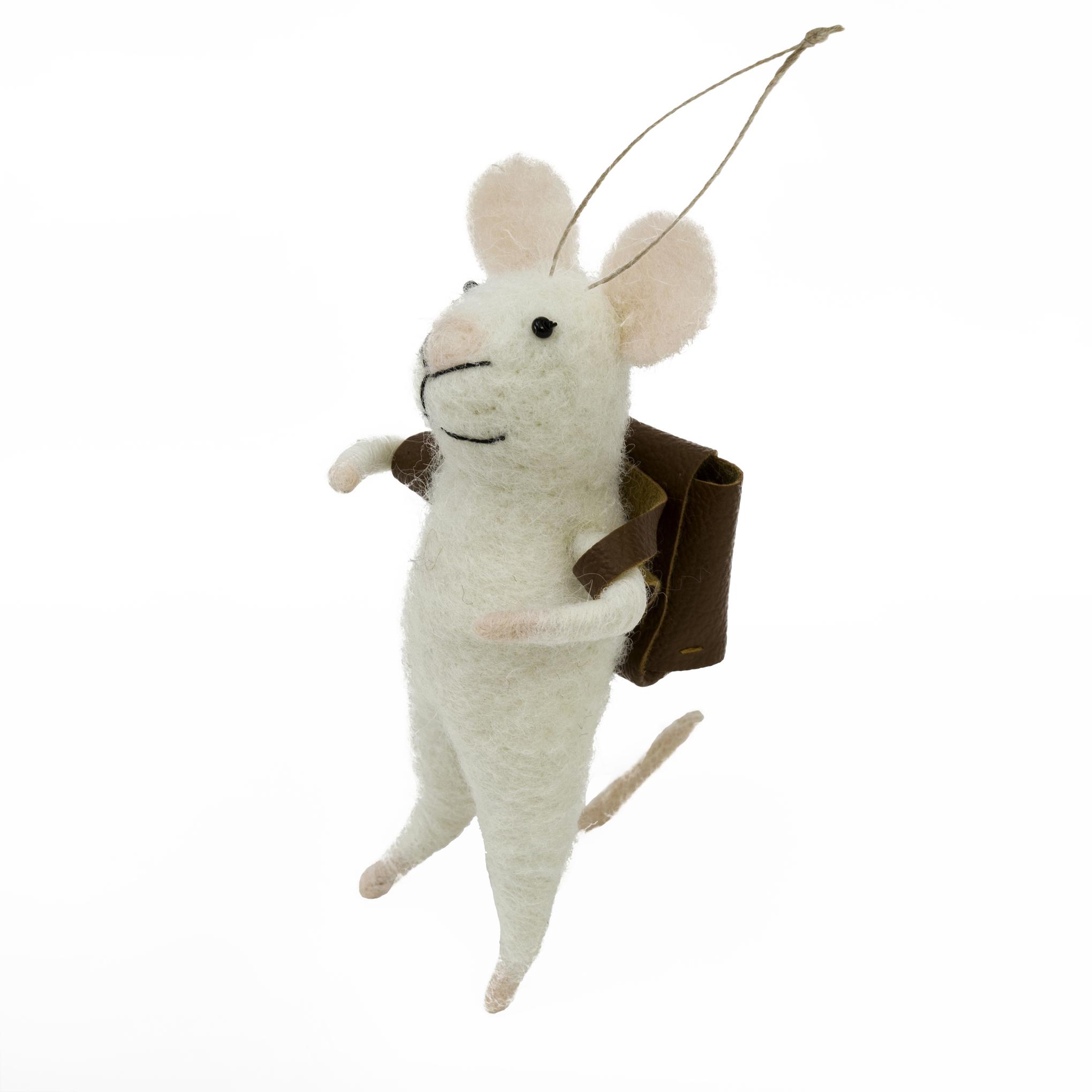 Indaba Schoolboy Stuart Felt Mouse Ornament