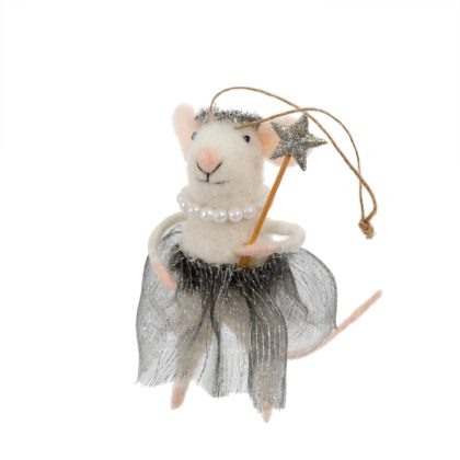 Indaba Ballerina Betty Felt Mouse Ornament