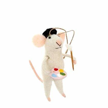 Indaba Petit Picasso Felt Mouse Ornament