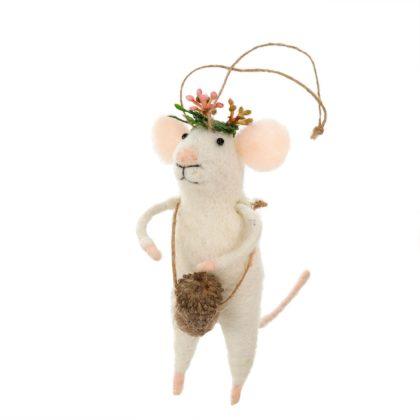 Indaba Coachella Felt Mouse Ornament