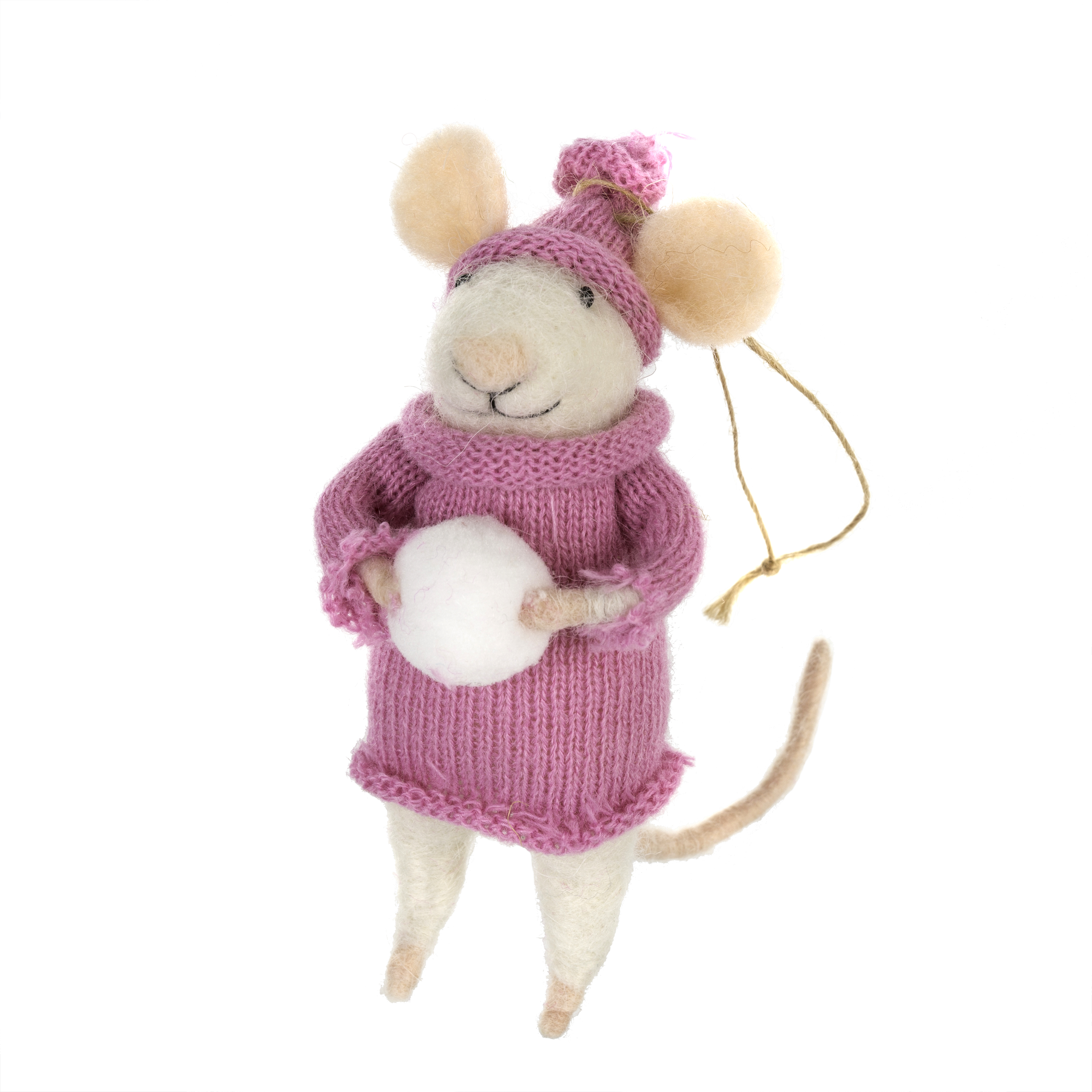 Indaba Winter Wilma Felt Mouse Ornament