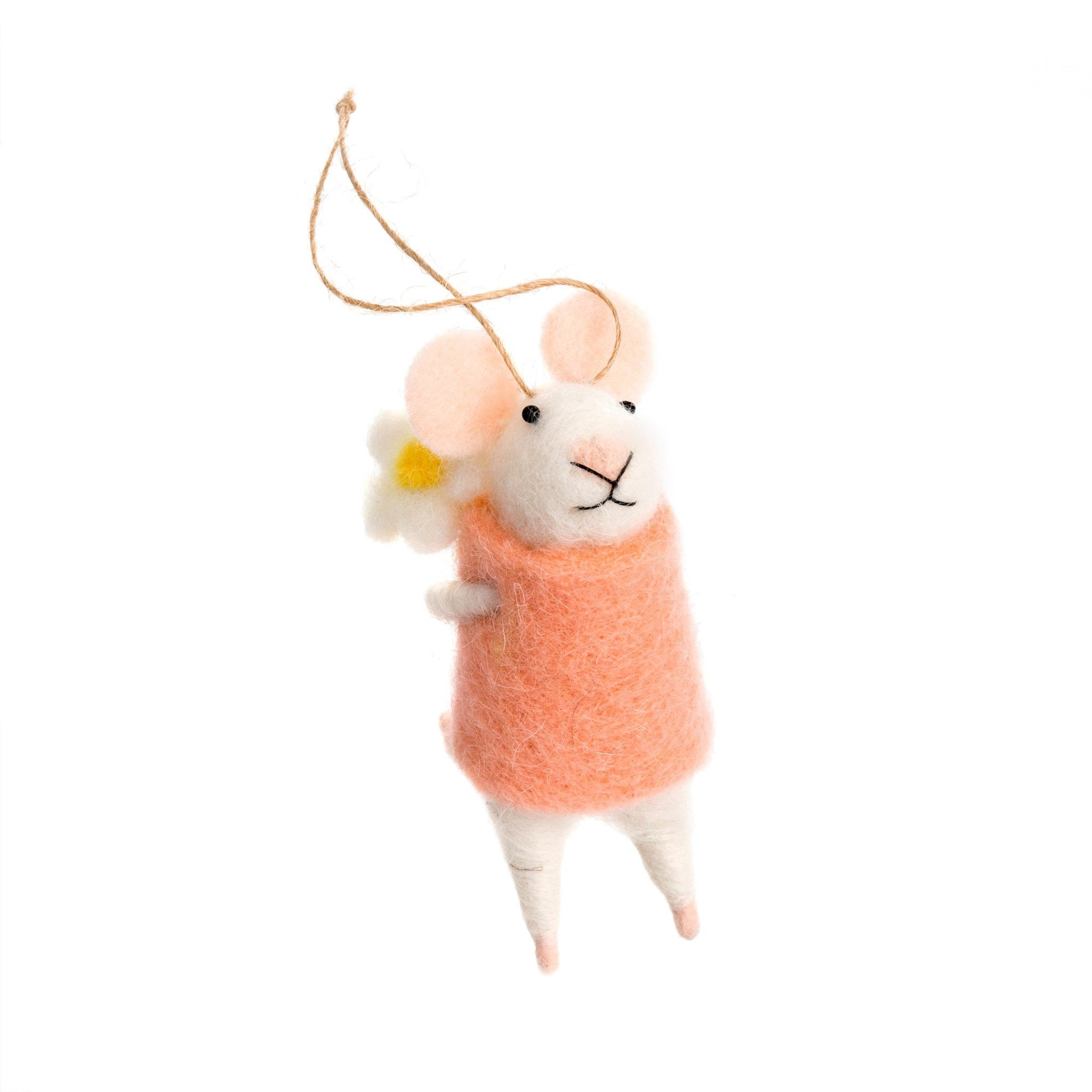Indaba Elodie Felt Mouse Ornament