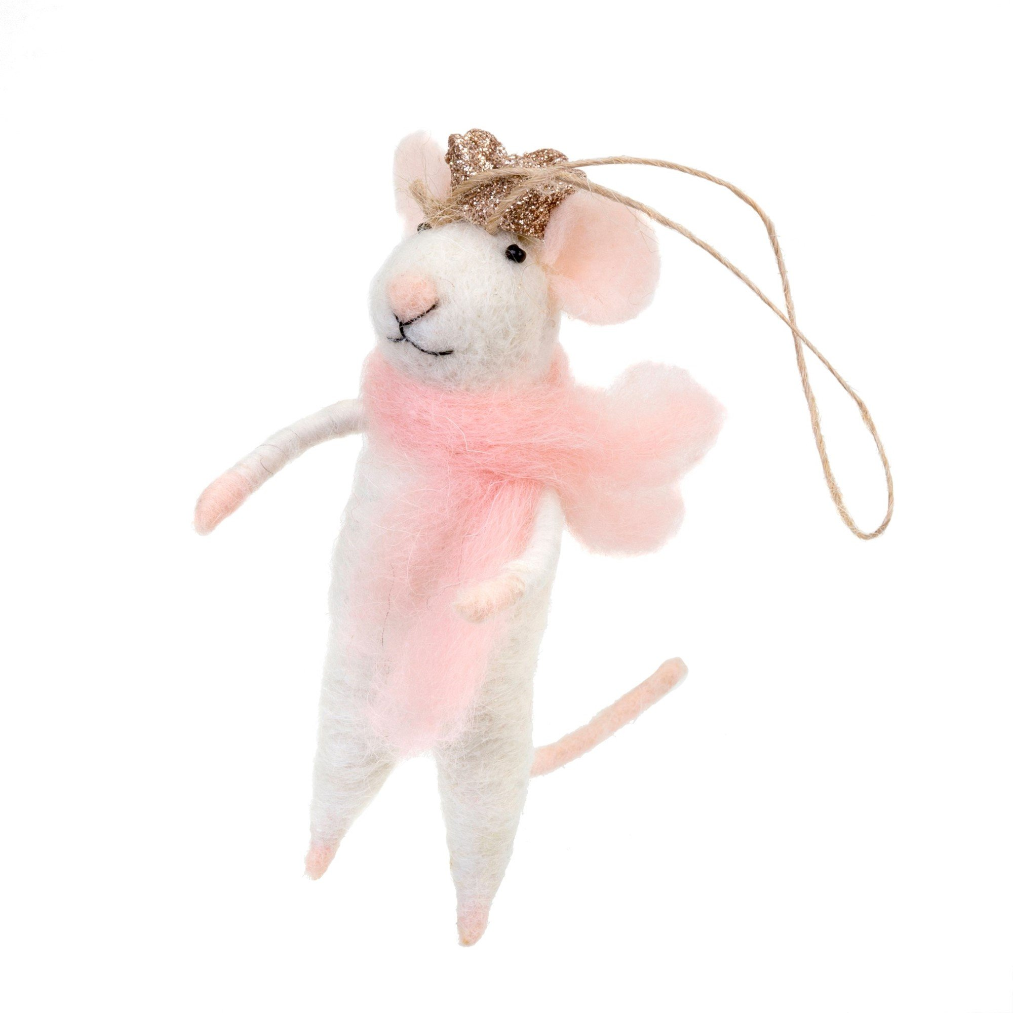 Indaba Princess Paulina Felt Mouse Ornament