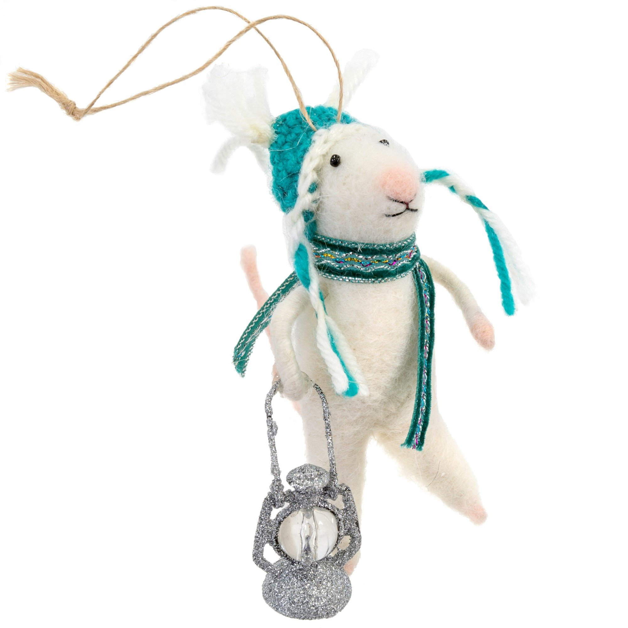 Indaba Nightwatch Nelson Felt Mouse Ornament