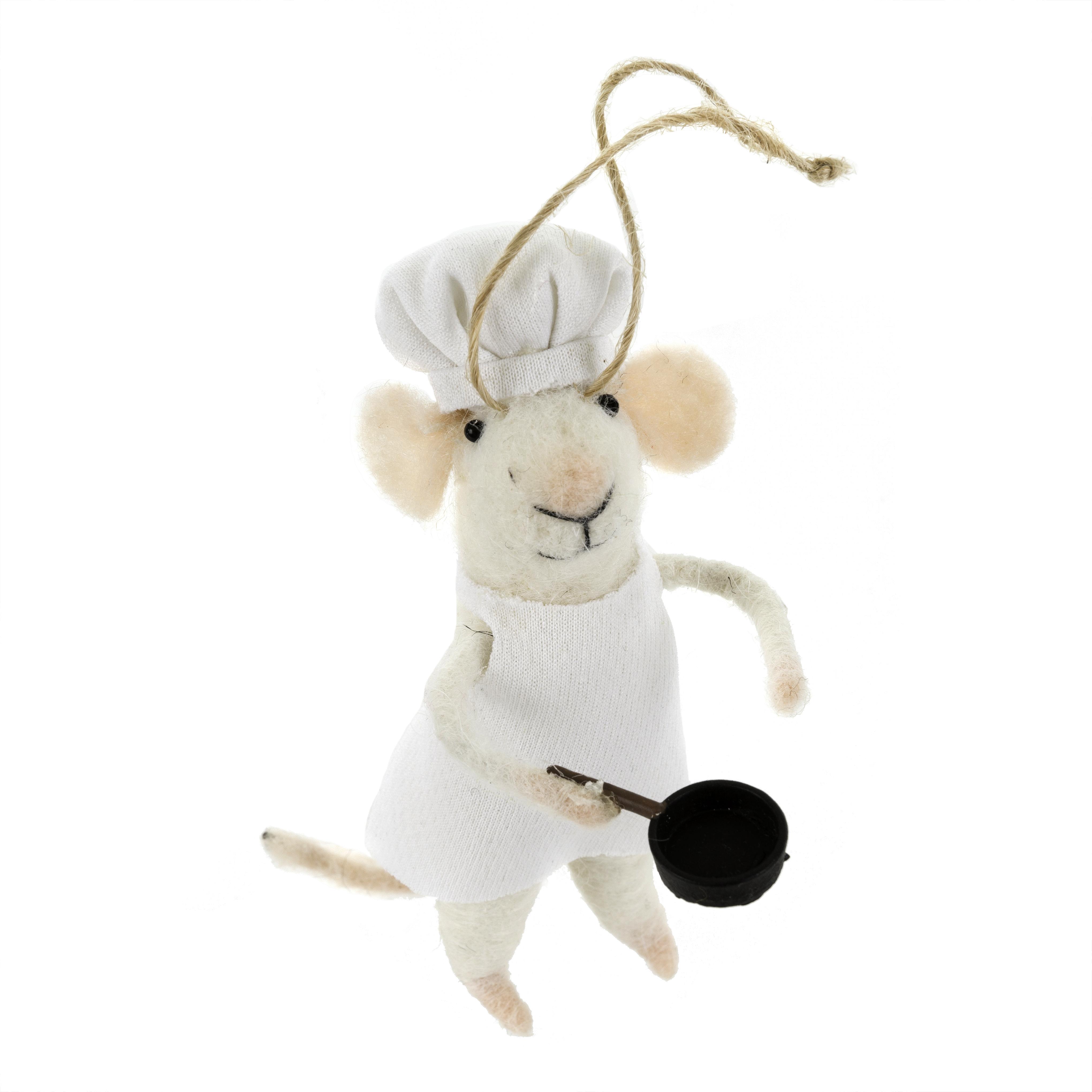 Indaba Sous Chef Felt Mouse Ornament