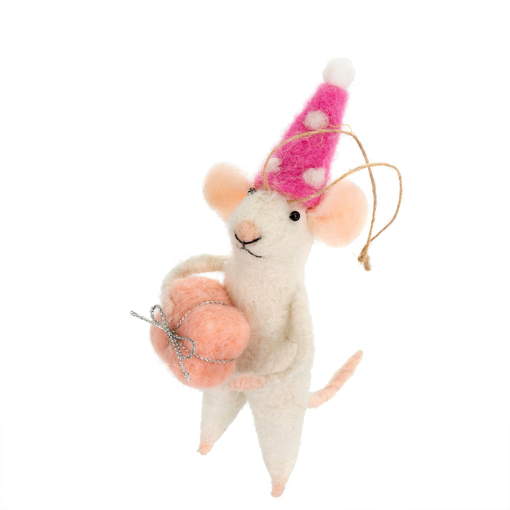 Indaba Party Pamela Felt Mouse Ornament