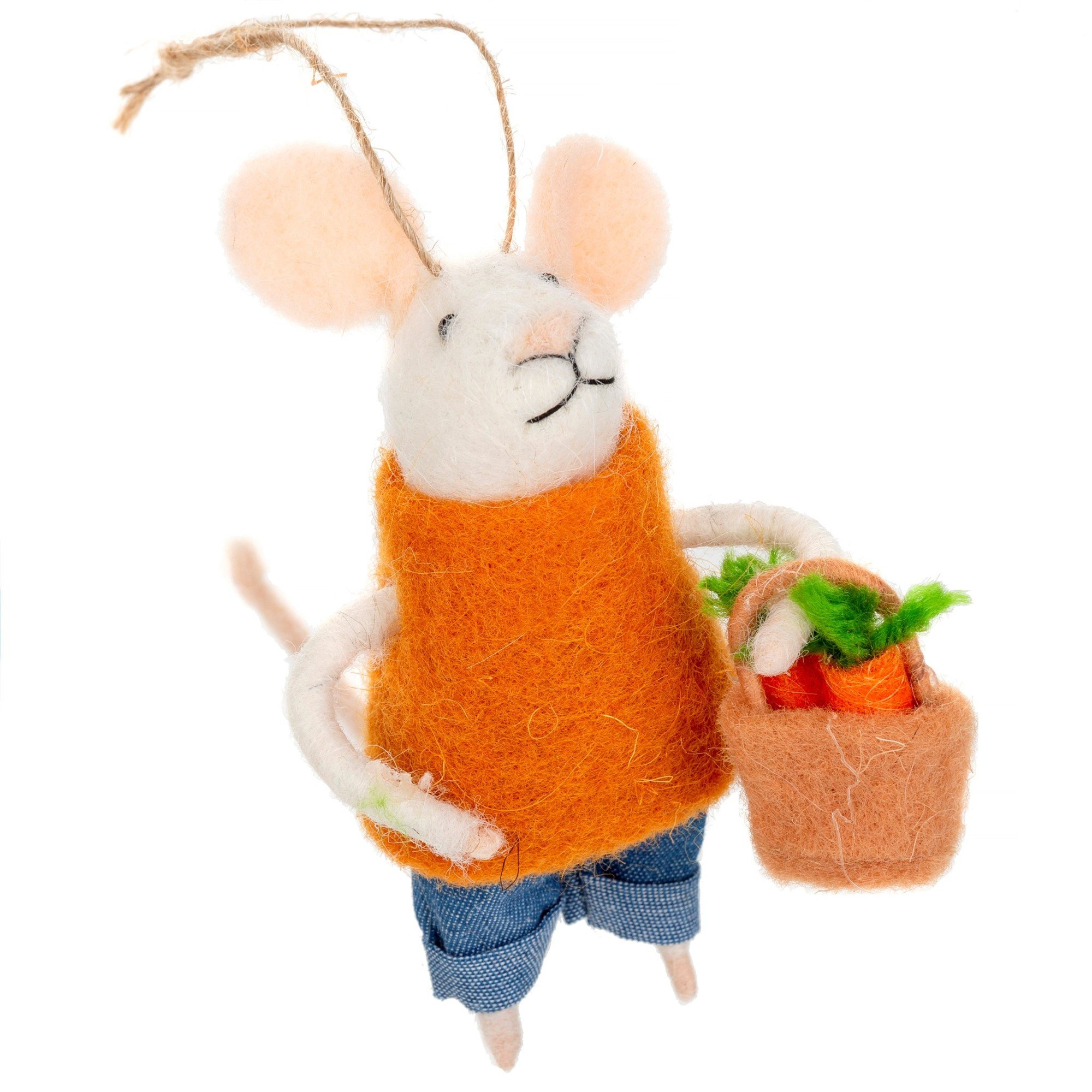 Indaba Farmer's Marke Finn Felt Mouse Ornament