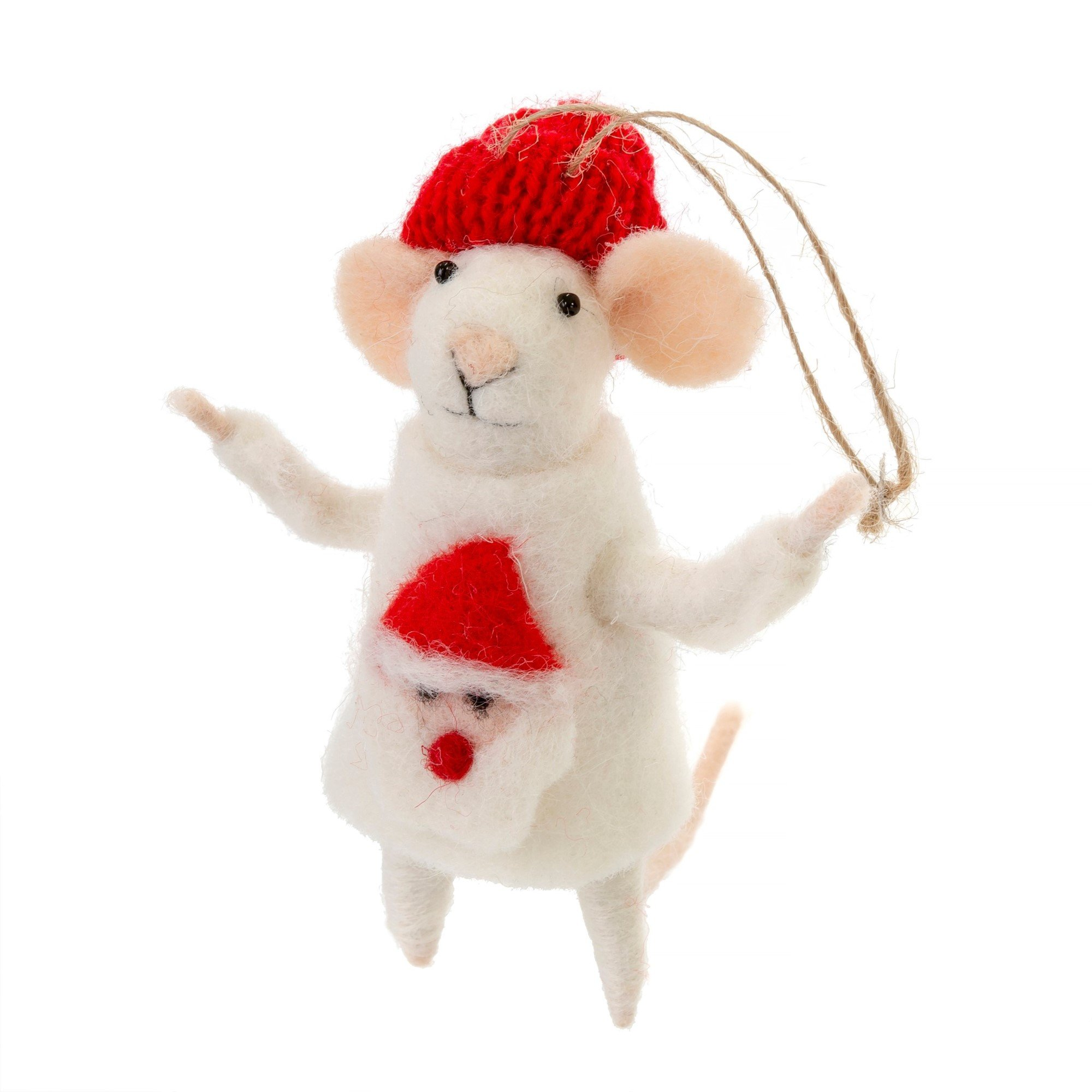 Indaba Ugly Sweater Simon Felt Mouse Ornament