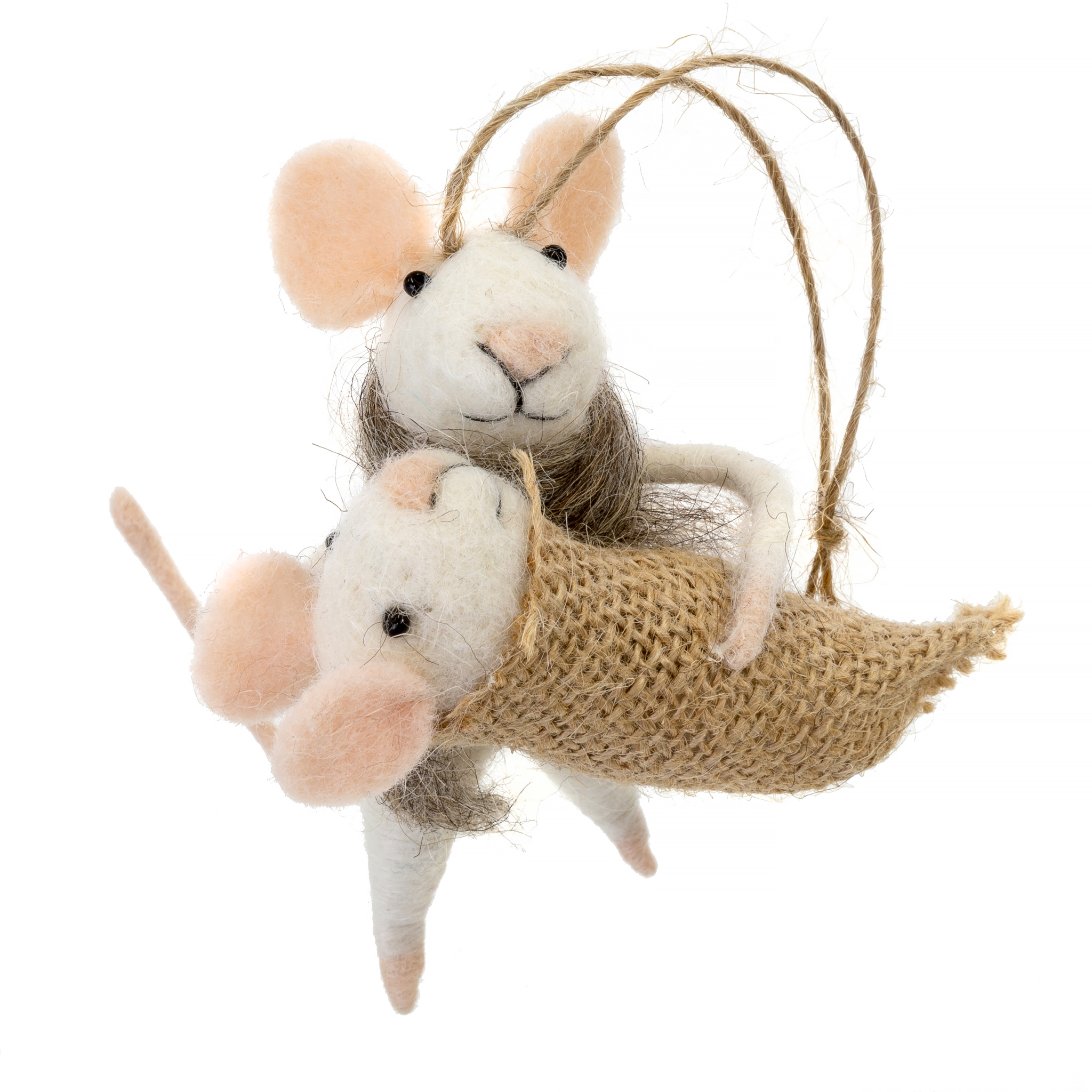 Indaba Mommy And Me Felt Mouse Ornament