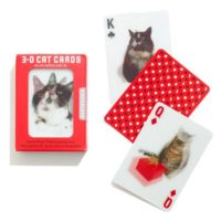 KIKKERLAND 3D CAT PLAYING CARDS