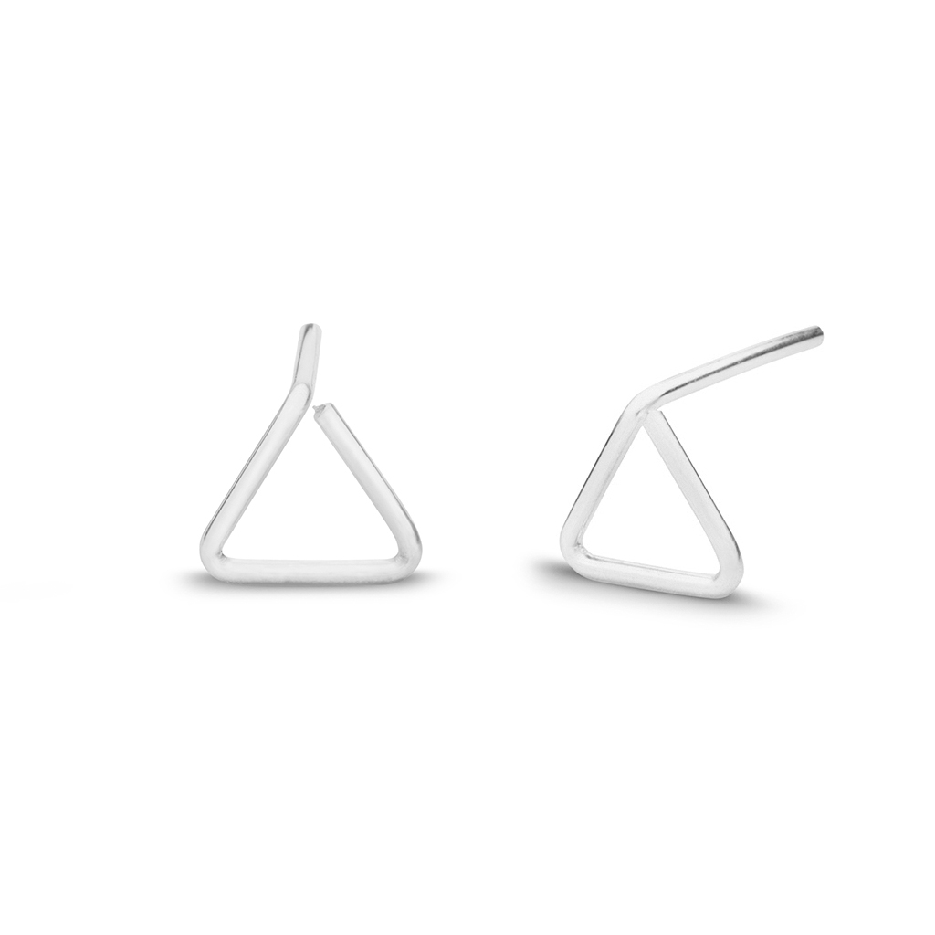 Kara Yoo Triangle Stud Sterling S Earrings