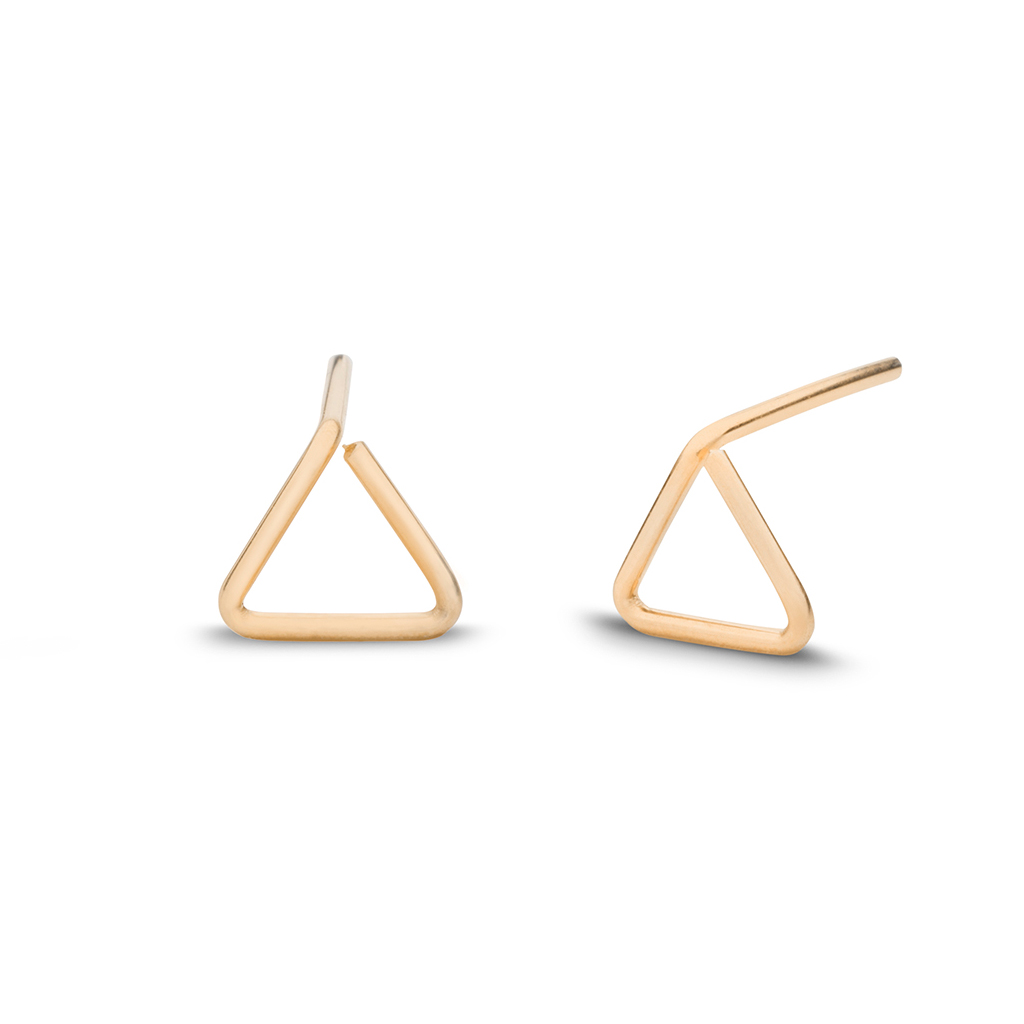 Kara Yoo Triangle Stud 14K Gold Filled Earrings