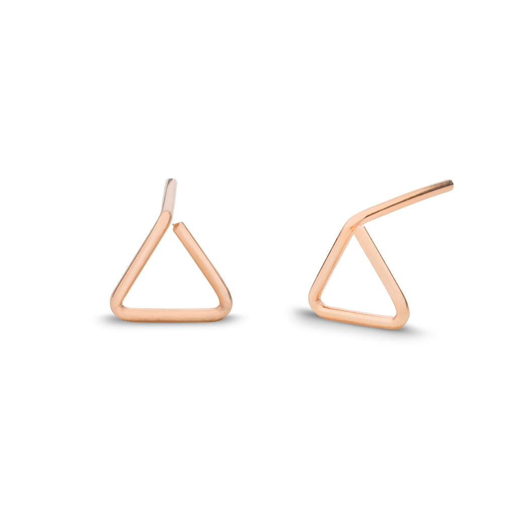 Kara Yoo Triangle Rose 14K Gold Filled Earrings
