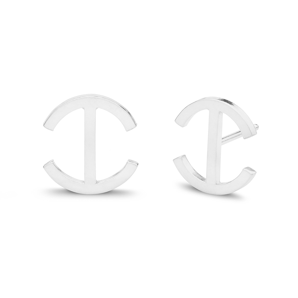 Kara Yoo Chloe Stud Sterling Silver Earrings