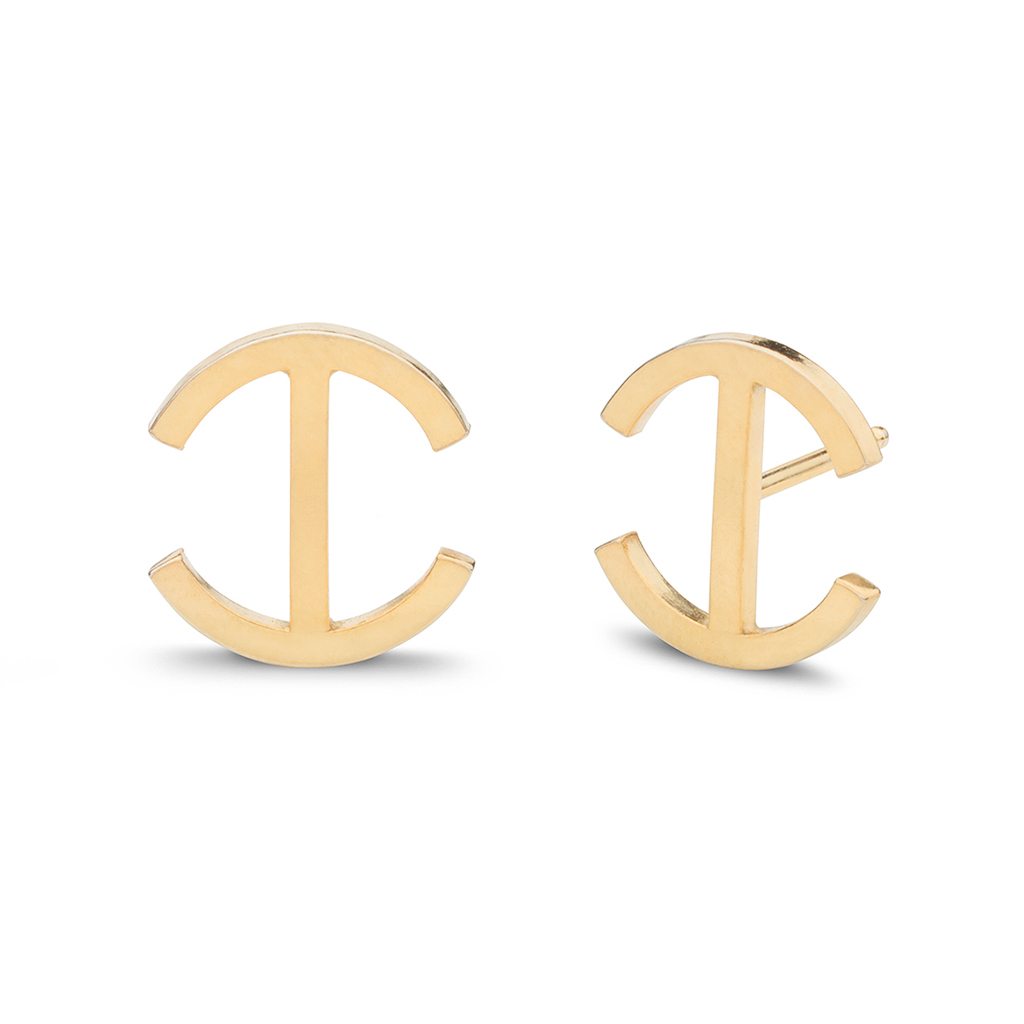 Kara Yoo Chloe Stud Gold Plate Earrings