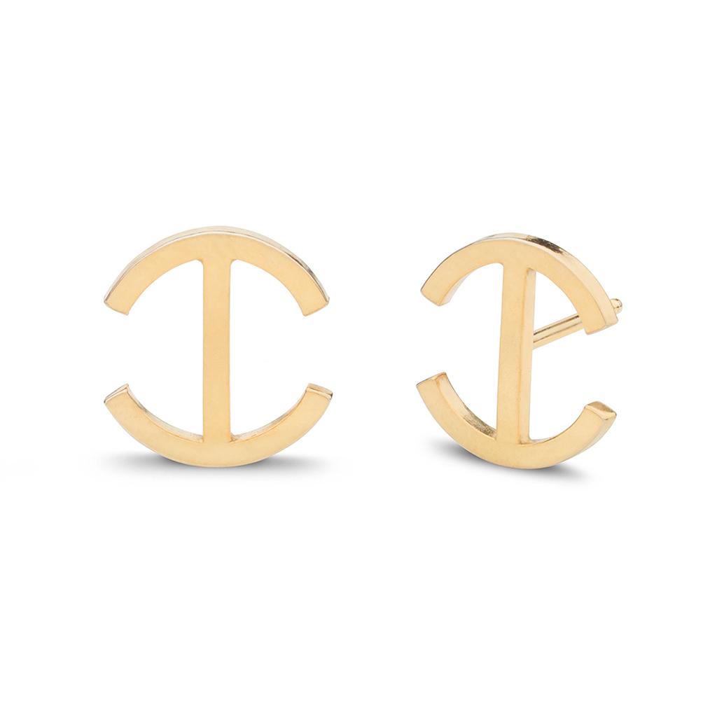 Kara Yoo Chloe Stud Gold Plate Earrings