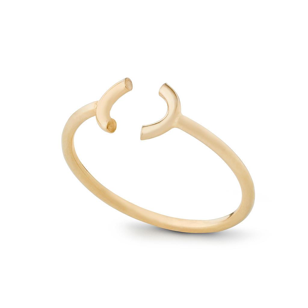 Kara Yoo Open Heart 14K Gold Filled Ring