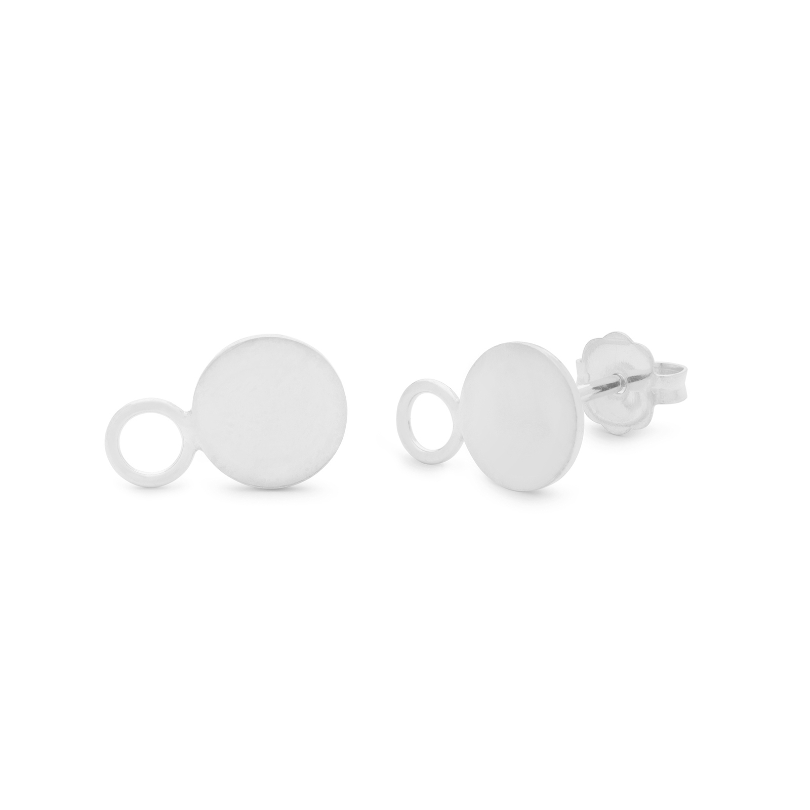 Kara Yoo Silver Solar Stud Earrings