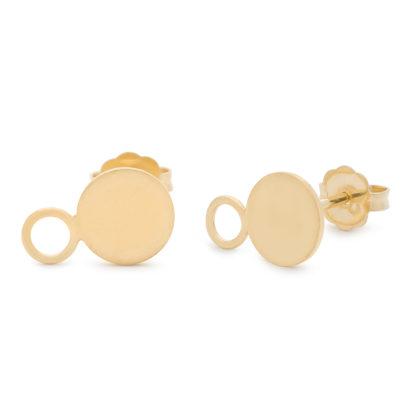 Kara Yoo 18K Gold Vermeil Solar Stud Earrings
