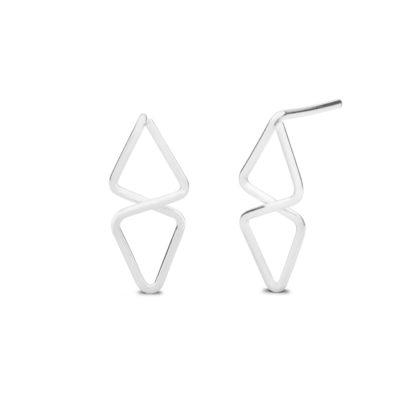 Kara Yoo Silver Aztec Stud Earrings