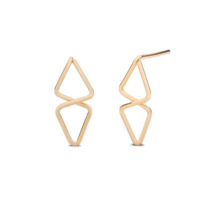 Kara Yoo 14K Gold Filled Aztec Stud Earrings