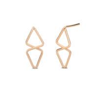 Kara Yoo Rose Gold Aztec Stud Earrings