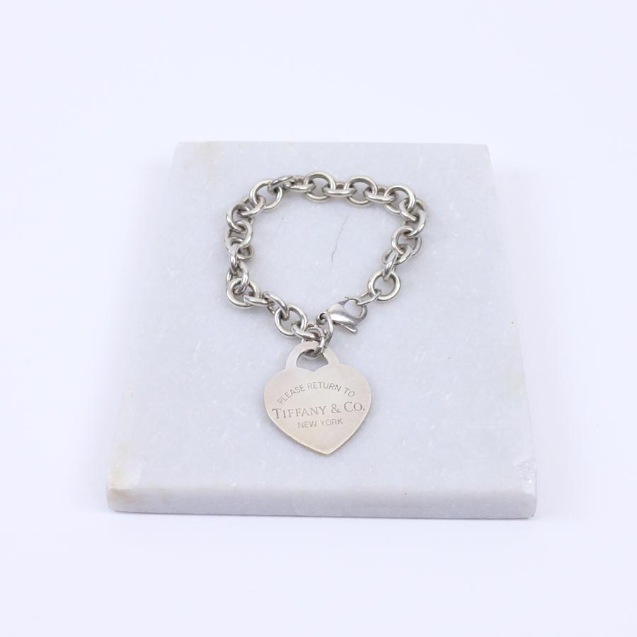 e775ae6b3 Tiffany & Co Return to Tiffany's Heart Tag Charm Bracelet – Front ...